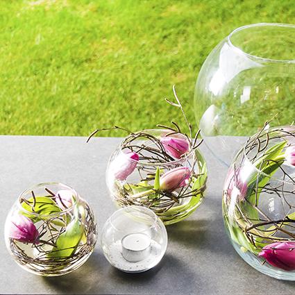 Round vase 'rondo' h17 d20 cm