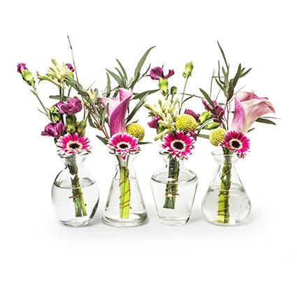 Vase 'liberte' 4 ass h10 cm
