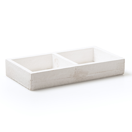 Wood tray white 2comp 3x18x9,5