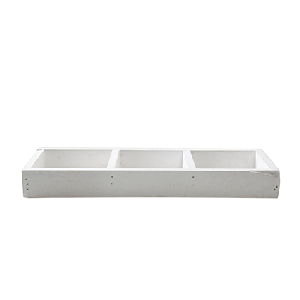 Wood tray white  26x9,5 cm
