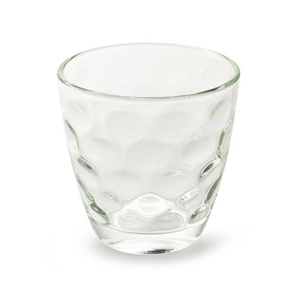 Glass 'duts' h7,5 d7,5 cm