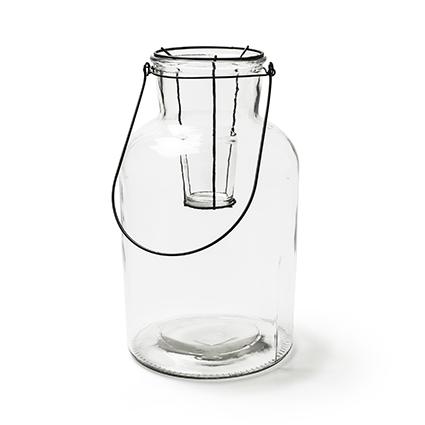 Vase w metal 'buenos' h26 d14