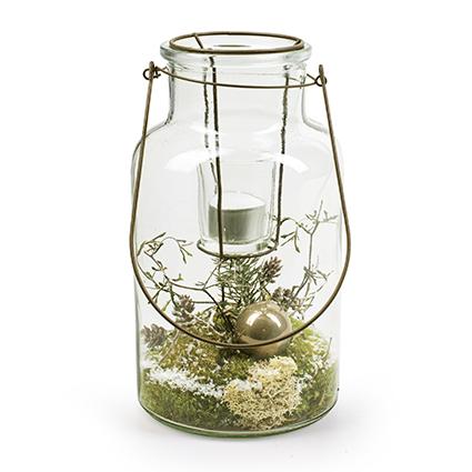 Vase with metal 'buenos' h26 d14 cm