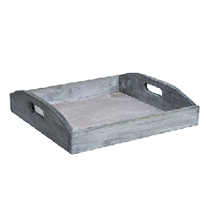 Wooden plate grey 3x22x22 cm