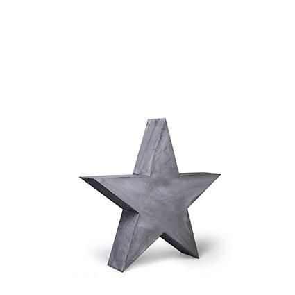 Houten ster grijs 31x31 cm