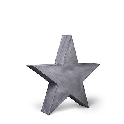 Wooden star grey 47x47 cm