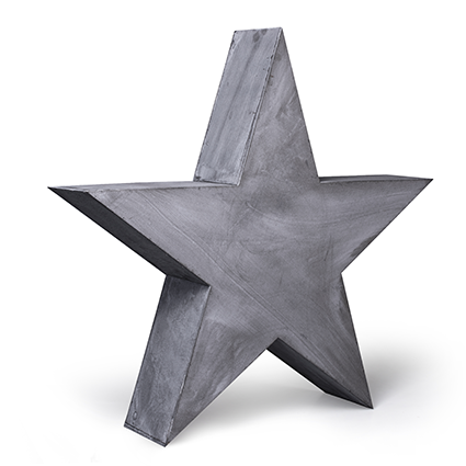 Wooden star grey 75x75 cm