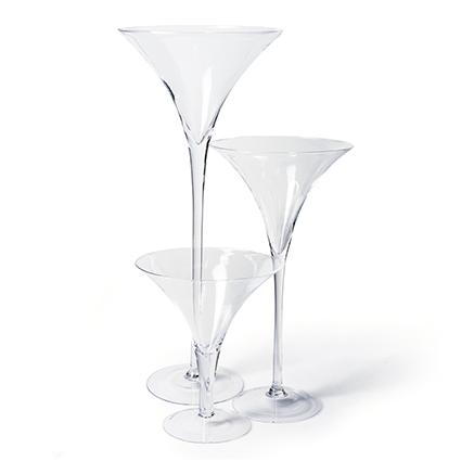 Glas 'martini' h30 d25 cm