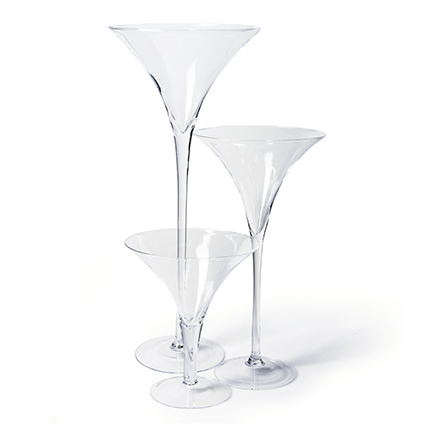 Glass 'martini' h70 d30 cm