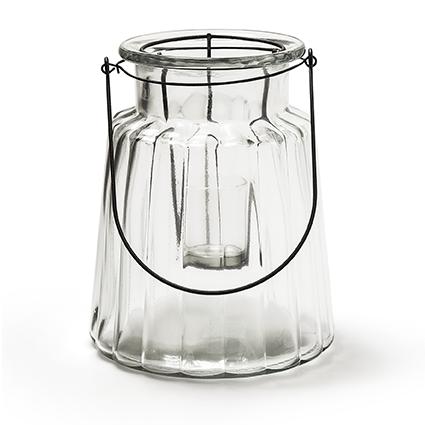 Glas 'isabella' h22 d17cm+wire