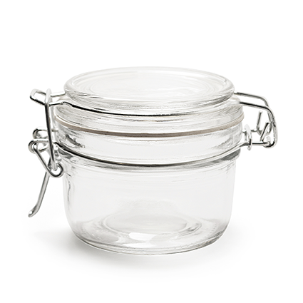 Jar+lid 'queens' h7 d8,5 cm