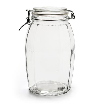 Jar+lid 'grace' h22 d13 cm
