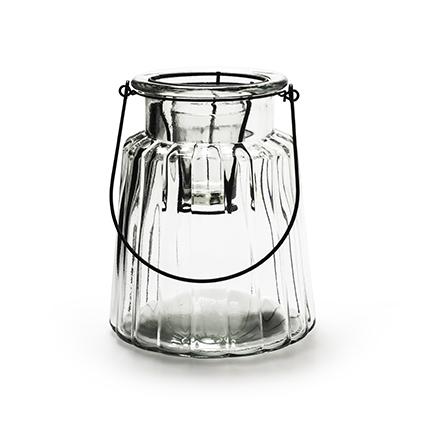 Glas 'isabella' + inzet h17,5 d14,5 cm