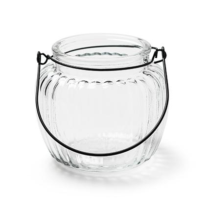 Jar 'britt' h10 d11/top 8 cm