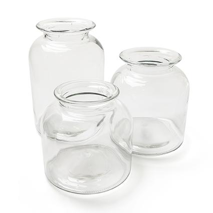 Glass jar 'bronx' h20,5 d17,5cm