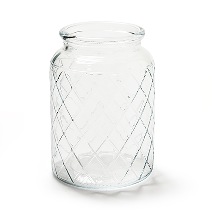 Glass jar 'matrix' h15 d11cm