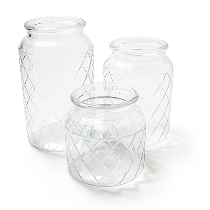 Glass jar 'matrix' h15 d11cm