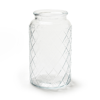 Glass jar 'matrix' h18 d11cm