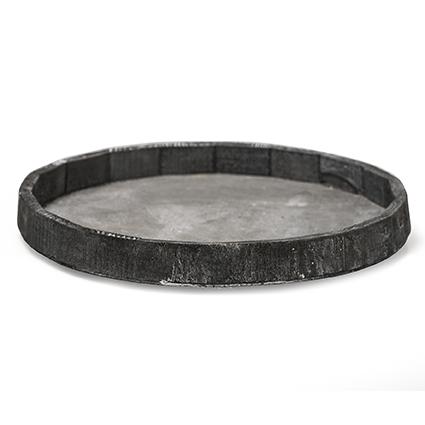 Plate rnd grijs 'loxley' h3d30