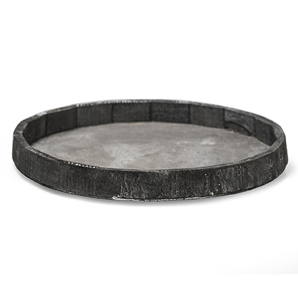 Onderbord rond grijs 'loxley' h3 d30,5cm