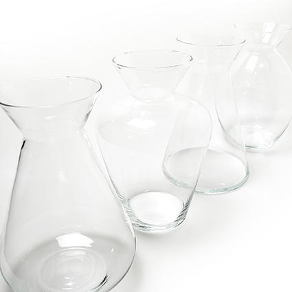 Vase 'liberte' 4-ass. h25 cm