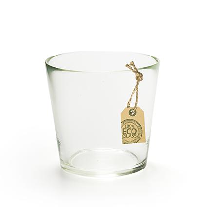 Eco glasjar 'laura' h11 d12 cm