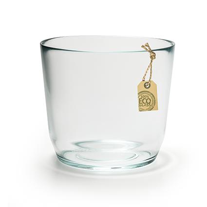 Eco glaspot 'vince' h15 d17 cm