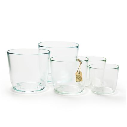 Eco glaspot 'vince' h16,5 d18,5 cm