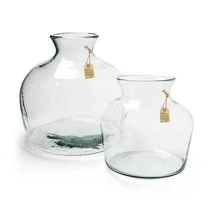 Eco vase 'terrarium' h25 d24cm