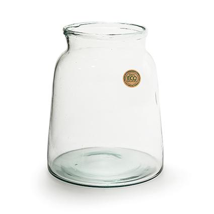 Eco glas vaas 'eddy' h22 bd21/td17 cm