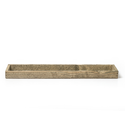 Wood tray natural h3x45x9 cm