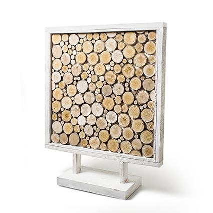 Houtframe whitewash h75 x60x60 cm