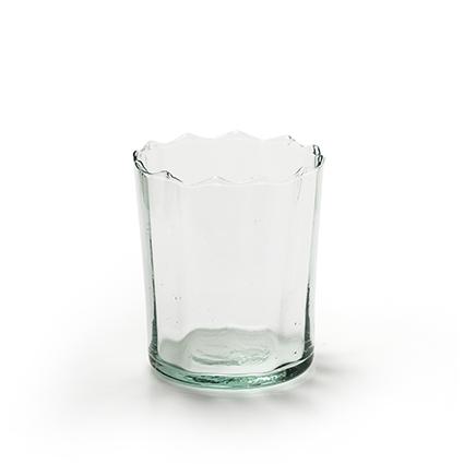 Eco glass 'optic' h9,5 d8 cm