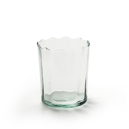 Eco glas 'optic' h9,5 d8 cm