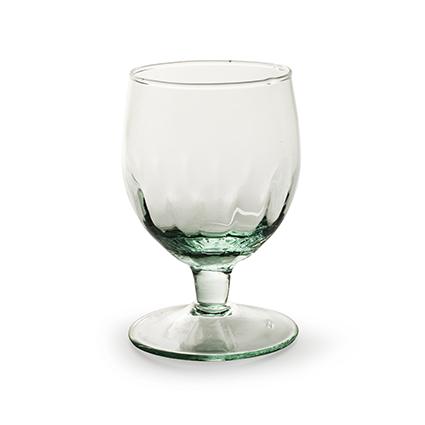 Eco glas op voet optic h11,5 d8 cm