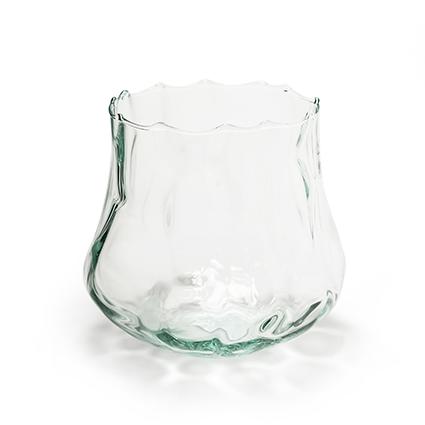 Eco vase 'cloudy' h17 d14 cm