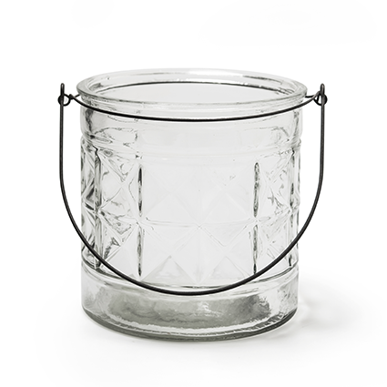 Glas met hanger 'saga' h15 d15 cm