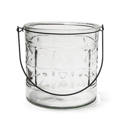 Glas met hanger 'saga' h18 d18 cm