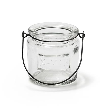 Glas met hanger 'x-mas' h8 d8 cm