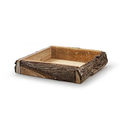 Tray 'bark' whitewash 20x20x4