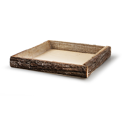 Tray 'bark' whitewash 30x30x4