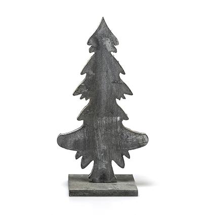 Deco tree greyw. h26cm