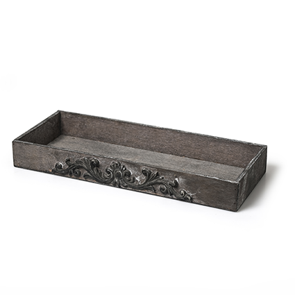 Wooden Tray 'baron' greywash