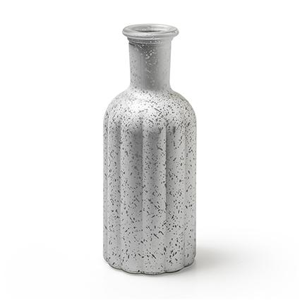 Fles 'norinne' L zilver frost h19 d7,5