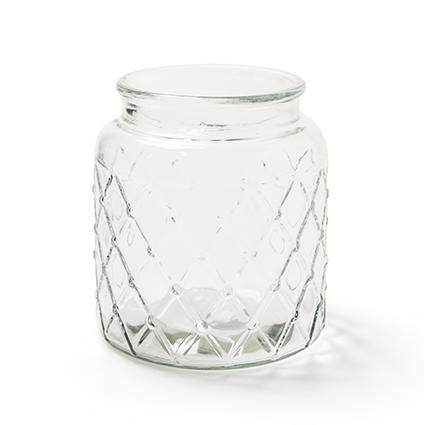 Glas 'matrix' h18 d16,5cm