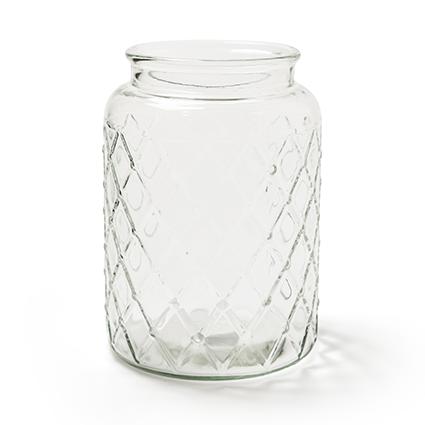 Glas 'matrix' h23 d16.5cm