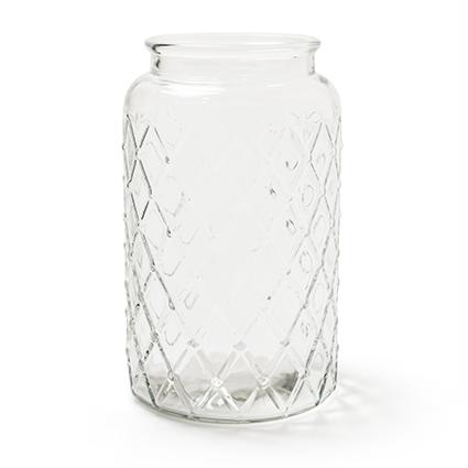 Glas 'matrix' h27 d16,5cm