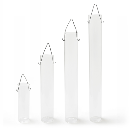 Glas tube 'bloom' h40 d6cm