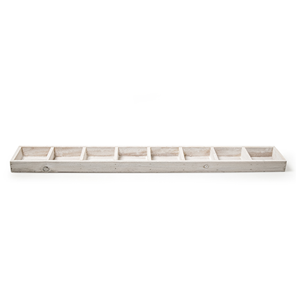 Wood tray white 8-9x67 cm
