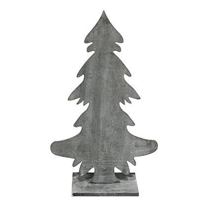 Deco hout 'tree' grijs h79 cm